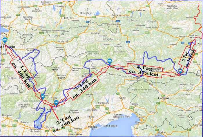 Sudtirol Karte Osterreich Italien.Labi S Homepage Meine Motorradtouren Gardasee Italien